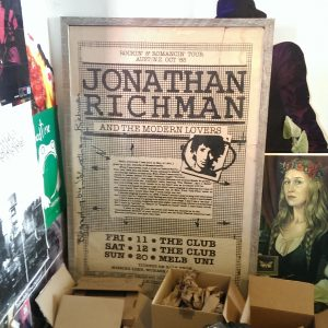 Jonathan Richman poster (photo: Mike Baehr)