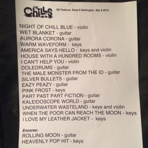 All the amazing songs they played that night