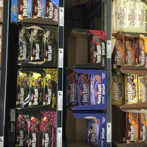 A small portion of the vast selection of Tim Tams