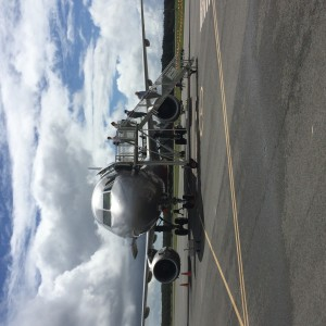 Our plane, on the tarmac at Byron Bay airport