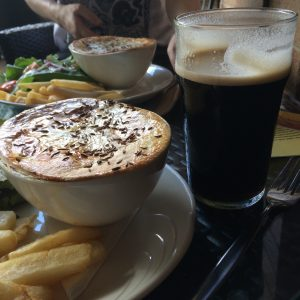 Fish pies and Guinness