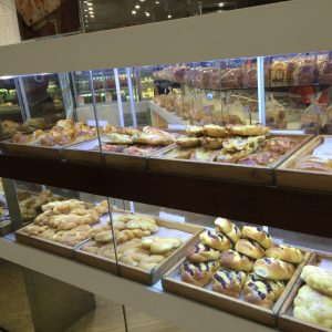 Pastries at the quasi-Chinese bakery, Brisbane mall food court